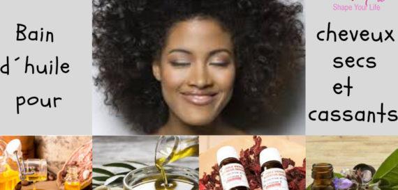 Recette Bain d'huile pour cheveux secs