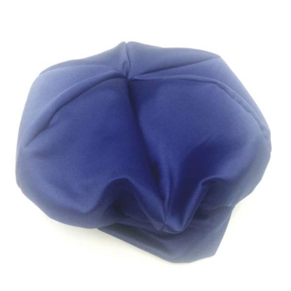 Bonnet satin bleu