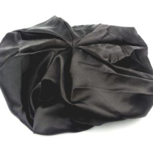 Bonnet satin noir