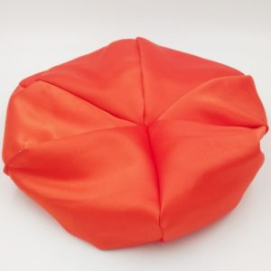 Bonnet satin orange