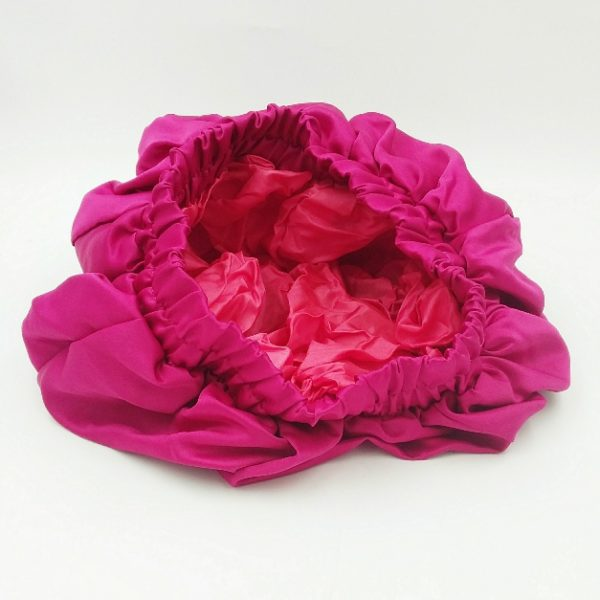 Bonnet satin rose