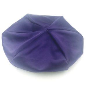 Bonnet satin violette