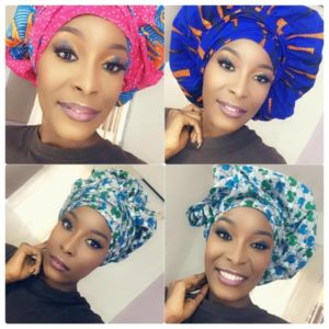 Bonnet wax et satin en foulard